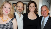 Mayor Bloomberg shares a smile with Vanya headliners Kristine Nielsen, David Hyde Pierce and Sigourney Weaver.