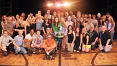 The entire Wicked company comes together for a group photo. Congrats to all on 4,000 trips to Oz!