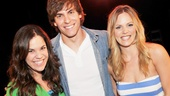 Derek Klena (Fiyero) joins leading ladies Lindsay Mendez and Katie Rose Clarke for a celebratory snapshot.
