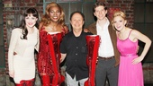 Kinky Boots' quartet of stars Celina Carvajal, Billy Porter, Stark Sands and Annaleigh Ashford present Billy Crystal with his own pair of boots.