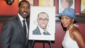 Courtney B. Vance and wife Angela Bassett celebrate Vance joining the gallery of acting legends on the wall at Sardi's.