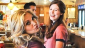 Orfeh hams it up between takes with Allison Case at the Clinton Diner in Maspeth, Queens.