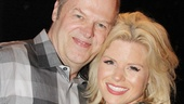 Lead producer Randy Adams shares a warm moment with Megan Hilty.