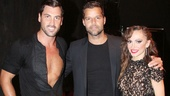 Dancing with the Stars pros Maksim Chmerkovskiy and Karina Smirnoff welcome Broadway vet Ricky Martin to Forever Tango at the Walter Kerr Theatre.