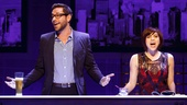 Zachary Levi as Aaron and Krysta Rodriguez as Casey in First Date.