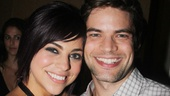 Krysta Rodriguez bonds with her Smash co-star, the always handsome Jeremy Jordan. Bring back Hit List, please?