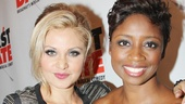 Broadway.com Audience Choice Award power performers Orfeh and Montego Glover look glam as always.