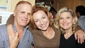 Star Julie White is flanked by her The Little Dog Who Laughed director Scott Ellis and Tony winner Debra Monk.