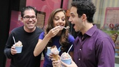 Cinderella's Andy Einhorn, Laura Osnes and Santino Fontana share their delicious treats.