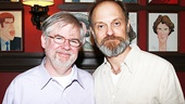 Playwright Christopher Durang and his Tony nominated leading man David Hyde Pierce enjoy the festivities.