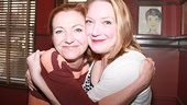 Tony winner Julie White gives a big congratulations to her onstage sister Kristine Nielsen.