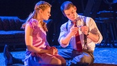 Celia Keenan-Bolger as Laura Wingfield and Brian J. Smith as the Gentleman Caller in The Glass Menagerie.