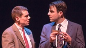 Brian J. Smith as the Gentleman Caller and Zachary Quinto as Tom Wingfield in The Glass Menagerie.