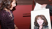 Sardi's managing partner Max Klimavicius unveils the new work of art, and Pippin star Andrea Martin is clearly thrilled!
