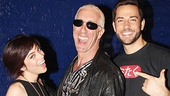Krysta Rodriguez and Zachary Levi rock out backstage with Twisted Sister frontman and Broadway vet Dee Snider.