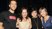 Composer Georgia Stitt and Tony nominee Susan Egan grab a photo with Zachary Levi and Krysta Rodriguez.