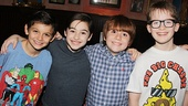NEWSIES- Luca Padovan- Josh Colley -Nicholas Lampiasi- Jake Lucas