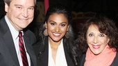 Miss America Organization chairman Sam Haskell and Nina Davuluri say hello to Andrea Martin.