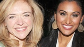 Pippin star Rachel Bay Jones and Nina Davuluri are all smiles.