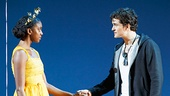 Condola Rashad as Juliet & Orlando Bloom as Romeo in Romeo and Juliet