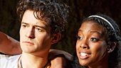 Orlando Bloom as Romeo & Condola Rashad as Juliet in Romeo and Juliet