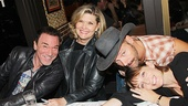 Broadway mash-up! A Time to Kill star Patrick Page, Tony winner Debra Monk, Hands on a Hardbody alum Jim Newman and Wicked vet Julia Murney get cozy at the autograph table.