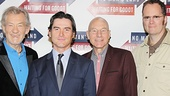 What a handsome foursome! Waiting For Godot and No Man's Land stars Ian McKellen, Billy Crudup, Patrick Stewart and Shuler Hensley will tackle two roles each in the new productions.