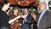 Chicago producers Fran and Barry Weissler enjoy a Champagne toast with Bebe Neuwirth and Walter Bobbie.