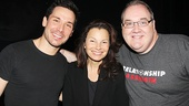 Kristoffer Cusick and Blake Hammond wouldn't miss the chance to grab a photo with the original Nanny, Fran Drescher!