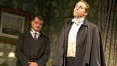 Michael Cumpsty as Desmond Curry and Alessandro Nivola as Sir Robert Morton in The Winslow Boy