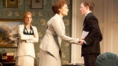 Charlotte Parry as Catherine, Mary Elizabeth Mastrantonio as Grace and Spencer Davis Milford as Ronnie in The Winslow Boy.