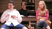 Philip Ettinger as Jonah, Michael Zegen as Liam and Molly Ranson as Melody in Bad Jews.