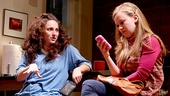 Tracee Chimo as Daphna and Molly Ranson as Melody in Bad Jews.