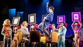 Tony Danza as Tommy, Rob McClure as Jack and the Company of Honeymoon in Vegas
