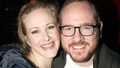 Broadway spouses Katie Finneran and Darren Goldstein enjoy a night out at Lucky Strike Lanes.