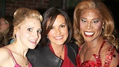 Look at those smiles! Annaleigh Ashford and Billy Porter flank Emmy winner Mariska Hargitay.