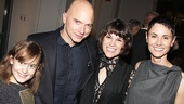 My three daughters! Michael Cerveris steps in for a photo with Sydney Lucas, Alexandra Socha and Beth Malone.