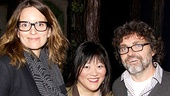 Tina Fey and her husband Jeff Richmond catch up with Fey's hilarious Admission co-star, Ann Harada!