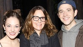 Tina Fey greets Cinderella and her Prince, played by Tony nominees Laura Osnes and Santino Fontana.