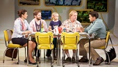 Stephanie J. Block as Sheryl Hoover, Rory O'Malley as Frank Hoover, Hannah Nordberg as Olive Hoover, David Rasche as Grandpa Hoover & Will Swenson as Richard Hoover in Little Miss Sunshine