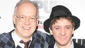 "From the ""chip off the old block"" department: Stage star Reed Birney congratulates his son, Good Person of Szechwan cast member Ephraim Birney."