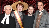 Daniel Radcliffe hangs out backstage with Guide players Eddie Korbich, Jennifer Smith and Price Waldman.