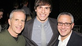 Wicked's producers Marc Platt and David Stone flank their current Fiyero, Derek Klena.