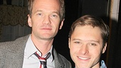 Emmy winner Neil Patrick Harris and Big Fish star Bobby Steggert pause for a backstage snapshot.