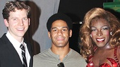 Darren Young is thrilled to hang out with Kinky Boots stars Stark Sands and Kyle Taylor Parker.