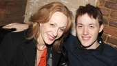 Five-time Tony nominee Jan Maxwell enjoys a night out at the theater with her son, Will Maxwell-Lunney.
