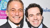 Honeymoon in Vegas stars Tony Danza and Rob McClure flash winning smiles at the gala.