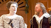 Paul Chahidi as Maria, Colin Hurley as Sir Toby Belch & Angus Wright  as Sir Andrew Aguecheek in Twelfth Night