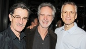 Original Four Seasons member Bob Gaudio is flanked by Jersey Boys' Tony-nominated book writer Rick Elice (r.) and his husband, Tony winning Winslow Boy star Roger Rees.