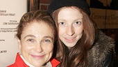 Direct from the Pippin trapeze, Tovah Feldshuh walks the red carpet with her daughter, Amanda Levy.